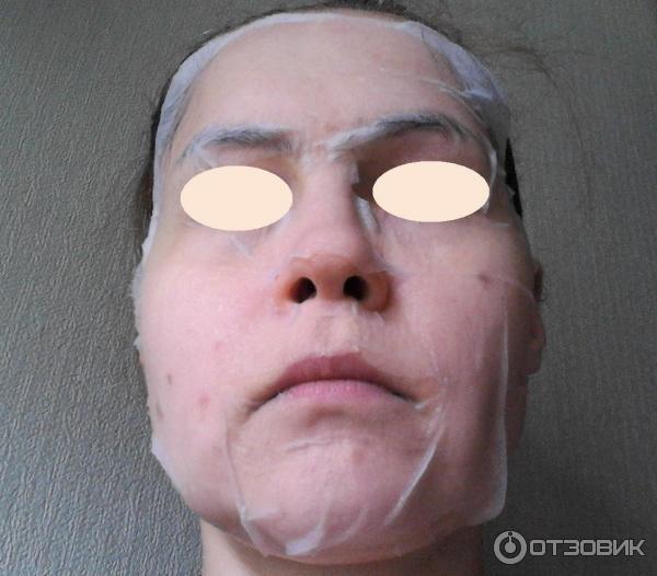 Шелковая маска для лица Секреты Лан с пентапептидом и гиалуроновой кислотой фото