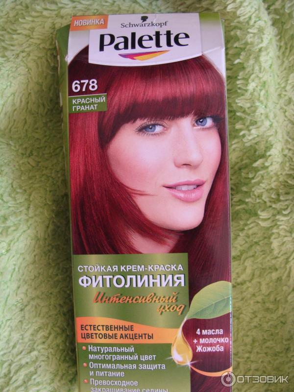 Цвет гранат волос
