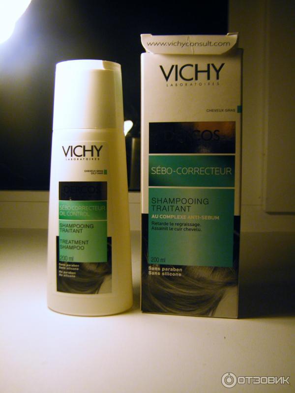 Шампунь регулирующий для жирных волос dercos vichy