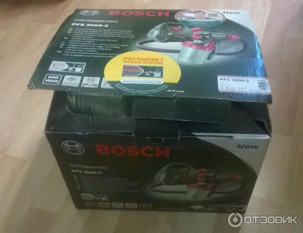 Отзыв о Краскопульт Bosch PFS 3000-2, качественный, легкий и продуктивный