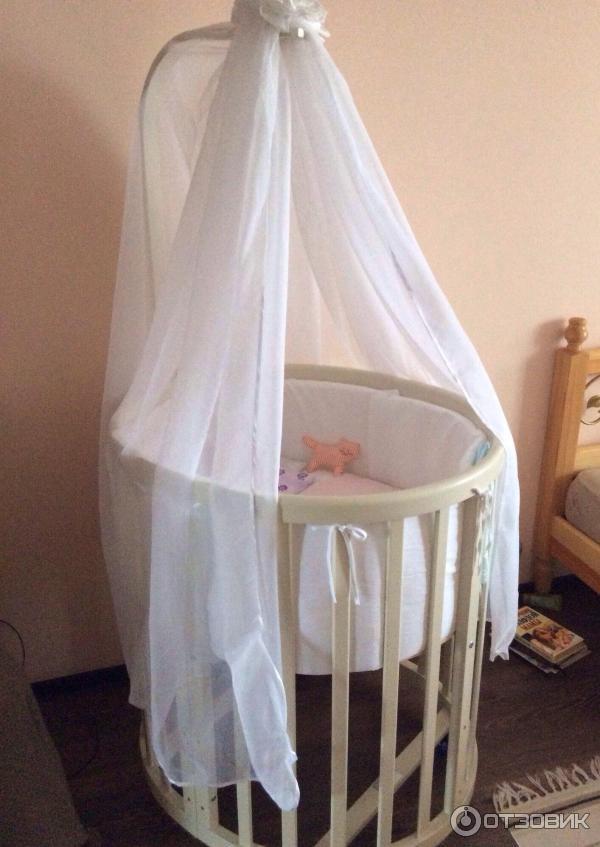 Детская круглая кроватка своими руками