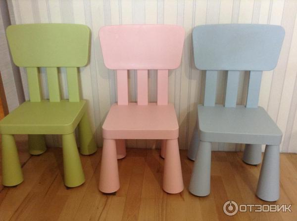 отзыв о стул детский Ikea Mammut удобный стул для малышей