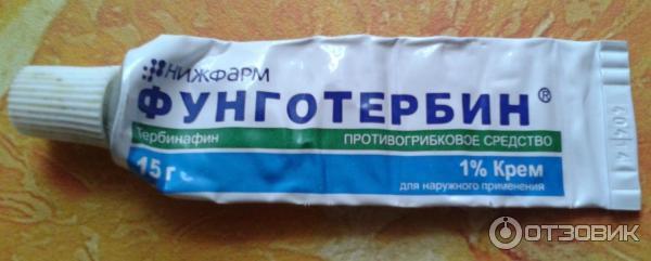 Отзыв о Противогрибковое средство Нижфарм Фунготербин, Отличное средство против грибка кожи и ногтей ног