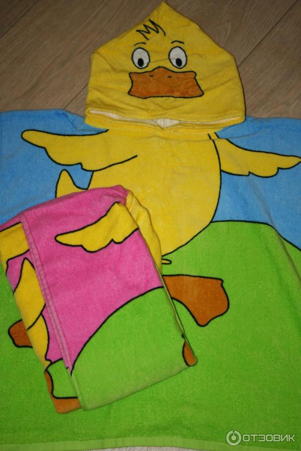 Полотенце-пончо с капюшоном своими руками 59