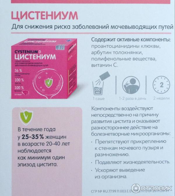 """Отзыв о БАД Аквион """"Цистениум"""" При остром цистите вряд ли спасёт, а вот для профилактики отличное средство!"""