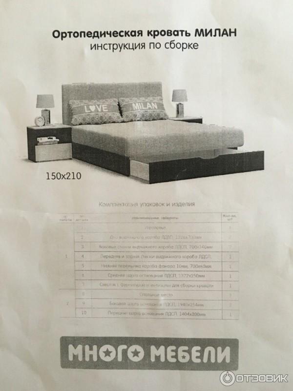 Кровать милана инструкция по сборке