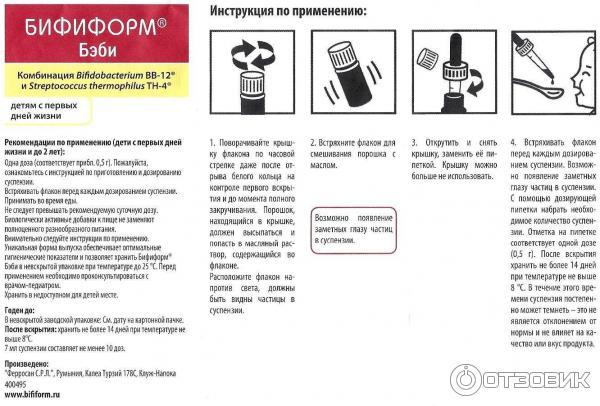 бифиформ инструкция по применению для детей