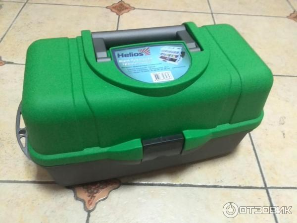 Ящик helios рыболова трехполочный зеленый