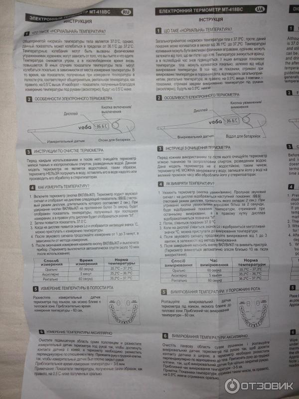 Электронный термометр gamma t-50 | отзывы покупателей.