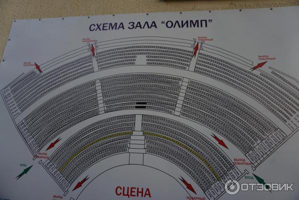 Схема зала олимп в геленджике
