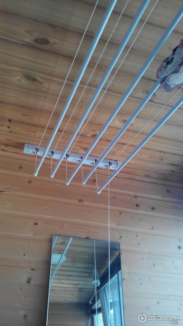 Отзыв о сушилка для белья gimi настенно-потолочная удобное р.