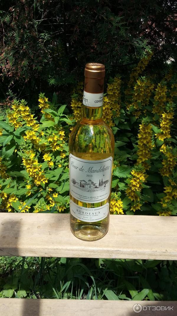 Вино бордо белое полусладкое