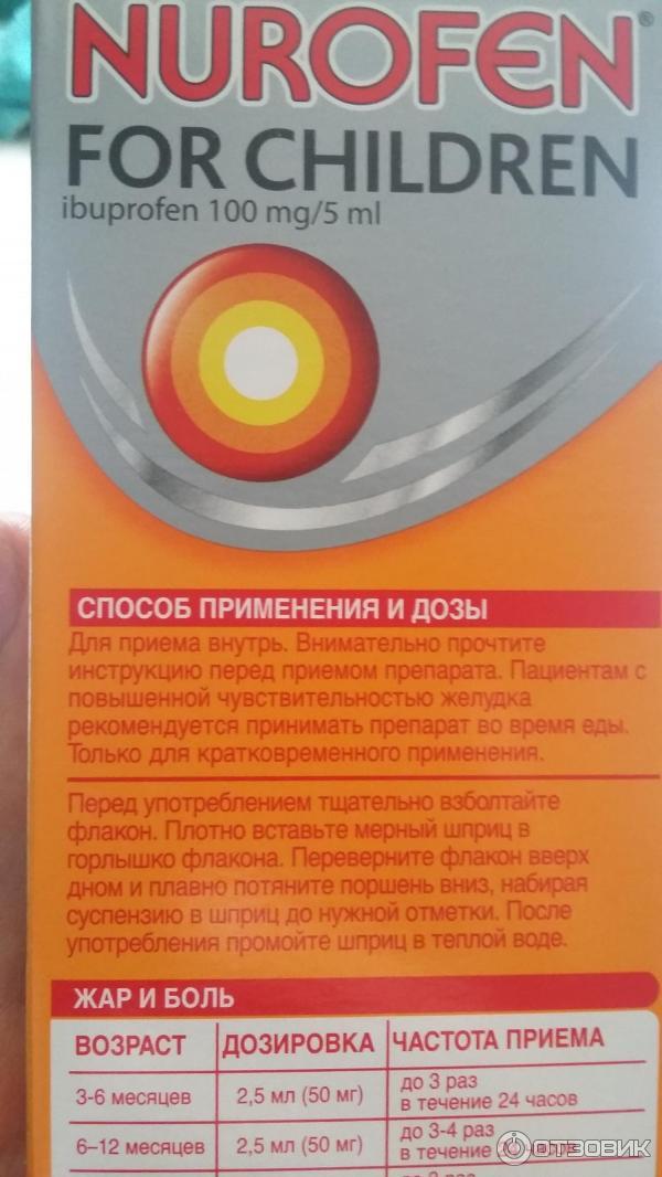 нурофен сироп инструкция по применению