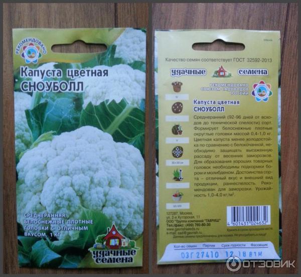 Выращивание цветной капусты в подмосковье