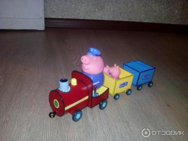свинка пеппа все серии подряд игрушки дедушкин паровозик