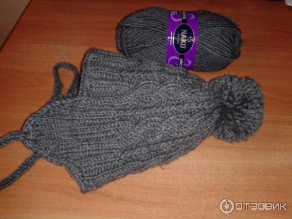отзыв о пряжа для вязания Nako Arctic для зимней шапки отлично