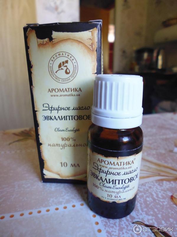 Отзыв о Эфирное масло Ароматика Эвкалиптовое Отличное лечебное масло от насморка