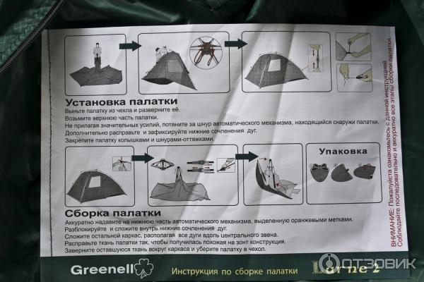 Инструкция как собрать рыбацкую палатку