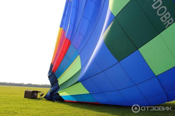 Посадка воздушного шара на поле