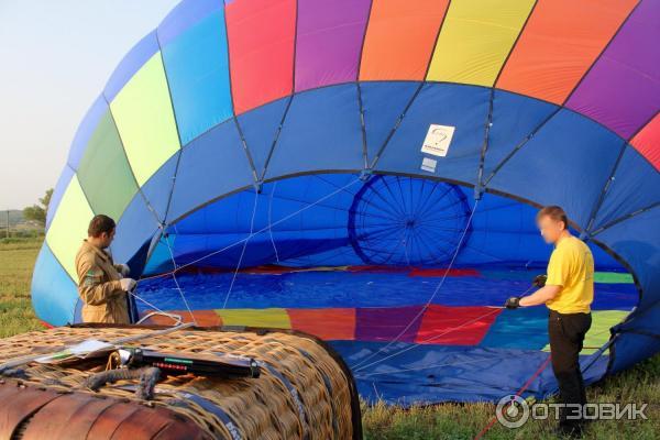 Подготовка воздушного шара к полету