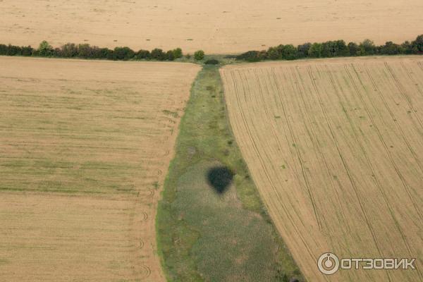 Фото с высоты полёта на воздушном шаре