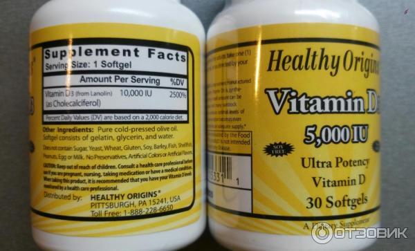 Витамин d форма выпуска