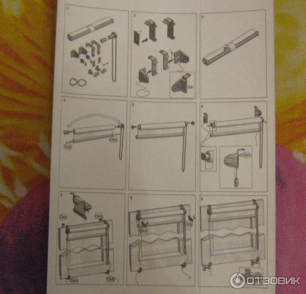 инструкция по сборке рулонная штора мини