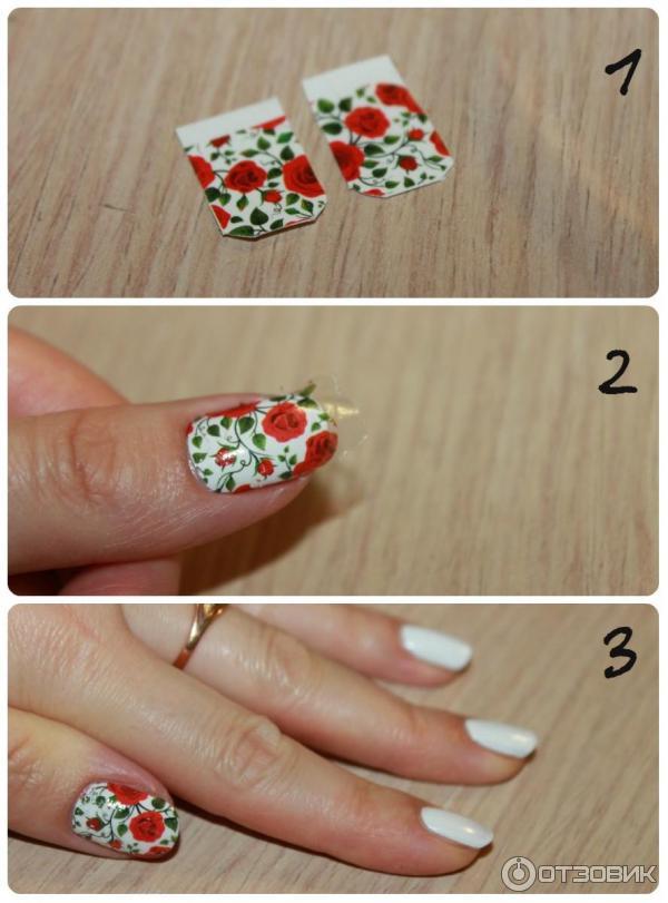 Главные правила и порядок, как использовать наклейки для ногтей, следующие: подготовить ноготь.