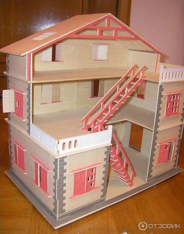 Сборная деревянная модель домик для кукол