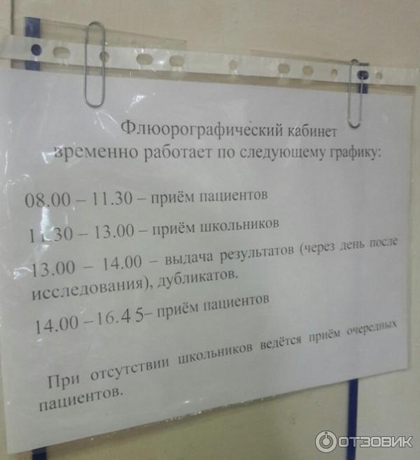 в какое время работает флюарография в 86 поликлинике специально для