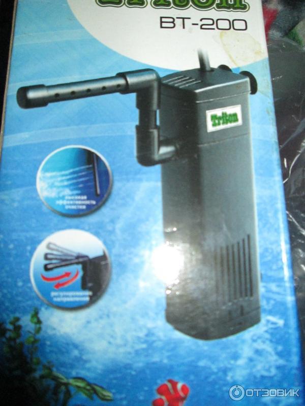 Отзыв о Внутренний фильтр для аквариума Triton ВТ-200 Неплохо подходит для маленького аквариума