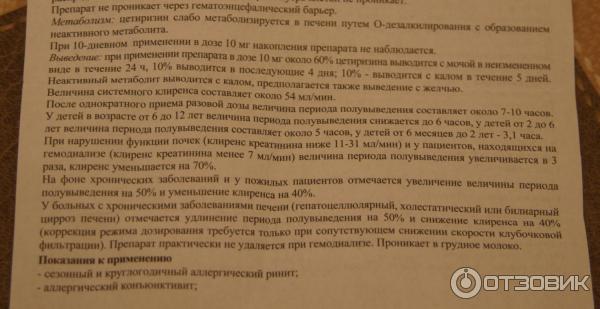 Отзыв о Цетиризин ДС Danhson Цетиризин инструкция (тот же Цетрин!