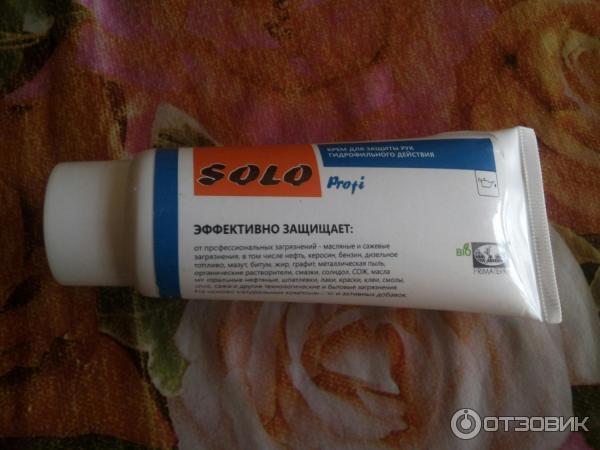 Крем для защиты кожи рук 100 мл solo profi гидрофильного действия