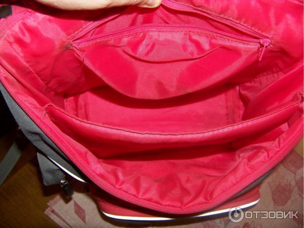 Отделы рюкзака застегиваются крупными молниями изнутри сумки прошита ярко розовая рюкзак tasmanian tiger trooper pack mc multicam