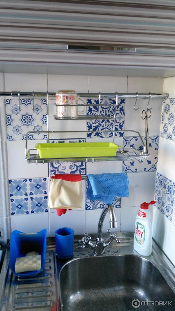 Подвесные полки на рейлинги для кухни