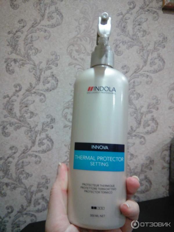 Отзыв о Термоспрей защитный для волос Indola Innova Setting Thermal Protector Отличная защита для ваших волос.
