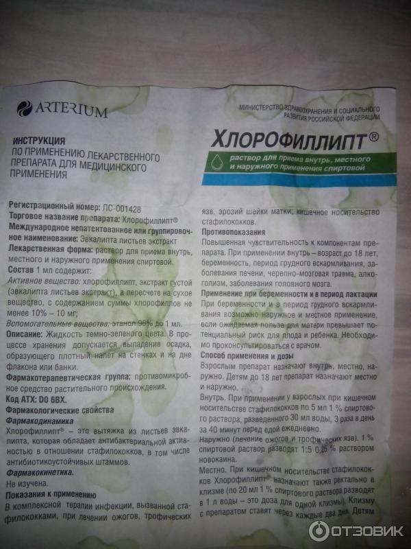 хлорофиллипт при ангине инструкция