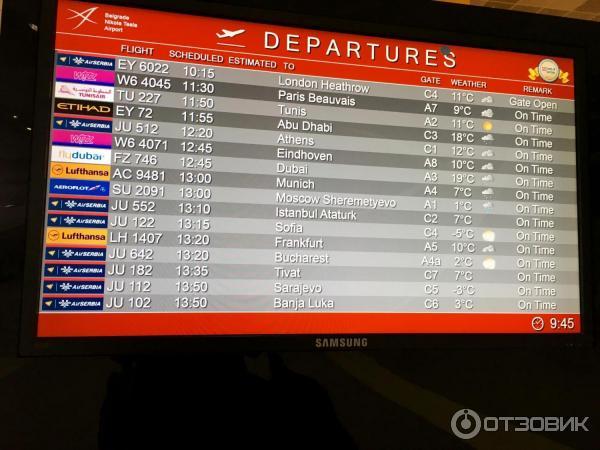 Аэропорт тиват расписание рейсов