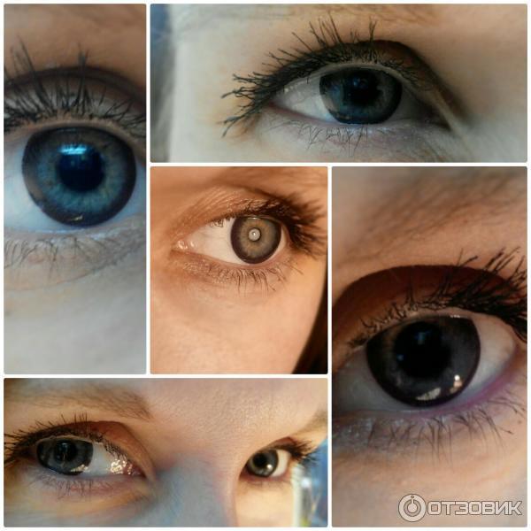 черные линзы для глаз фото