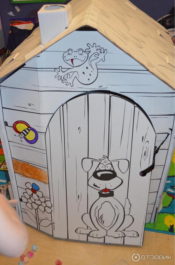 Как раскрасить домик из картона 172