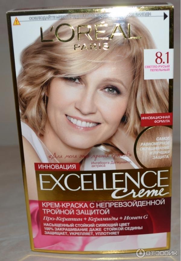 Краска для волос лореаль экселанс светло русый