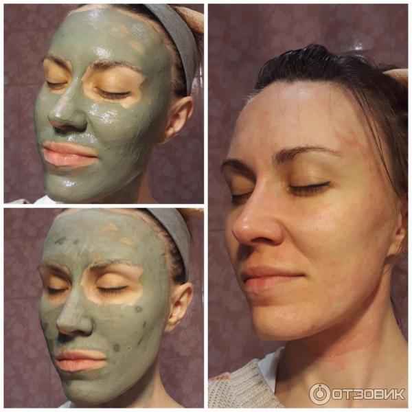 Использование глины для маски