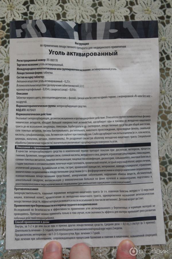 Активированный уголь инструкция по применению для беременных 93