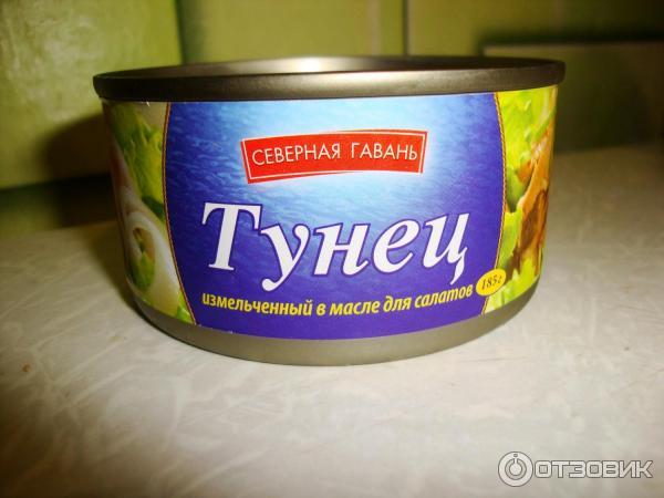 Салат из консервы тунца с