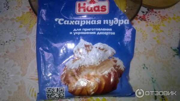 В бисквит вместо сахара пудру