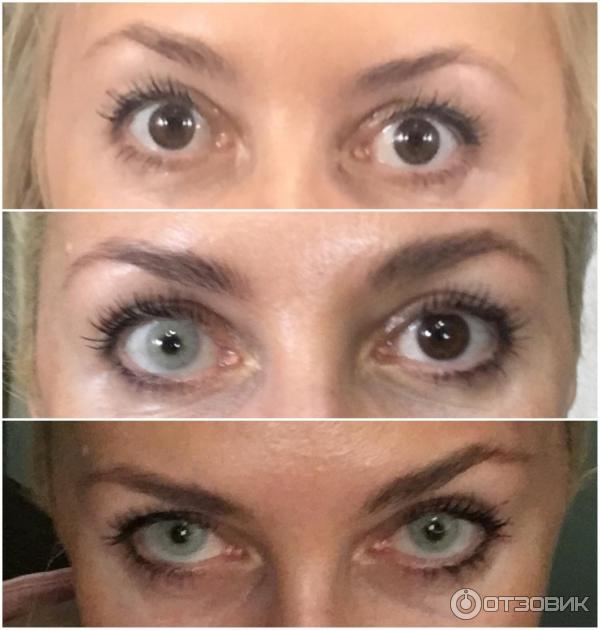 контактные цветные линзы фото до и после