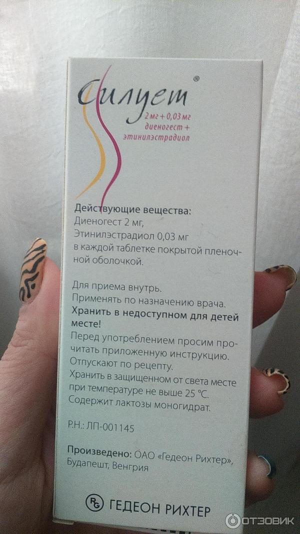 """Отзыв о Гормональный контрацептив Gedeon Richter """"Силует"""" Эффективно, вернул мне женское здоровье -отзыв для девочек!"""
