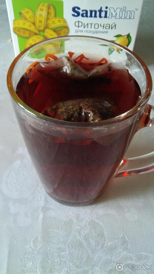 Фото чай для похудения santimin