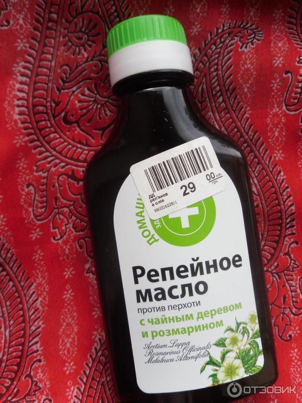 Репейное масло с чайным деревом и розмарином