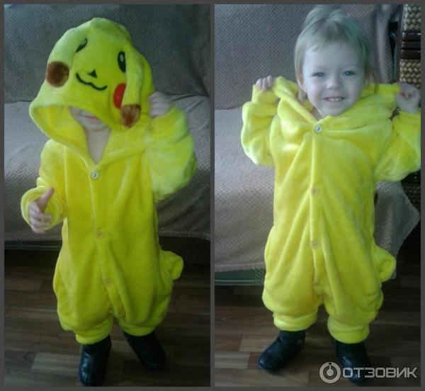 52071502ac90 Отзыв о Пикачу-пижама детская Aliexpress | Очень теплая пижама для ...